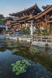 Chinese temple in Hong Kong. Chi lin Nunnery, Tang dynasty style Chinese temple, Hong Kong Stock Photos