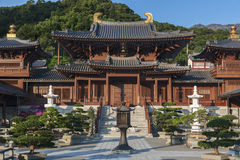 Chinese temple in Hong Kong. Chi lin Nunnery, Tang dynasty style Chinese temple, Hong Kong Royalty Free Stock Photo