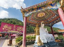 Chinese temple in Hong Kong, China Royalty Free Stock Photo