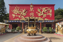 Chinese temple in Hong Kong Royalty Free Stock Photo