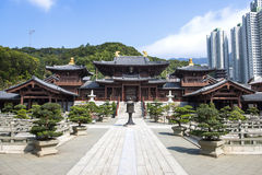 Chinese Temple in Hongkong. Grand Chinese Temple in Hongkong Southeast Asia Stock Photos