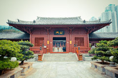 Chinese Temple in Hongkong. New construction of Chinese Temple in Hongkong (Chi lin Nunnery Stock Photos