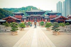 Hongkong Temple. New construction of Chinese Temple in Hongkong (Chi lin Nunnery Royalty Free Stock Photography
