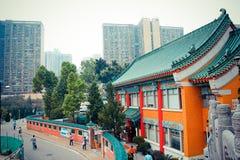 Chinese Temple in Hongkong Royalty Free Stock Photos