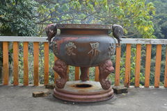 Chinese Temple incense pot Stock Images
