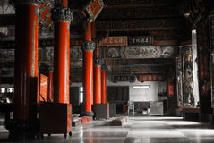Chinese temple interior Stock Photo