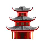 Chinese temple isolated on white vector Stock Images