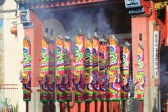 Chinese Temple Joss Stick. Chinese Temple In Georgetown Penang Malaysia royalty free stock images