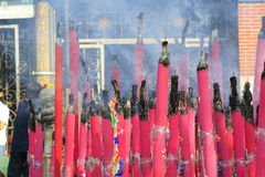 Chinese Temple Joss Stick Stock Photography