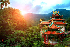 Chinese temple in jungle Royalty Free Stock Photography