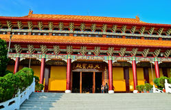Chinese temple in Kaohsiung, Taiwan. royalty free stock images