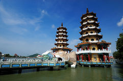 Chinese Temple on the lake Royalty Free Stock Photo