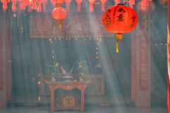 Chinese temple lantern Stock Photos