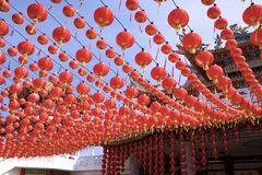 Chinese Temple Lanterns Stock Photo