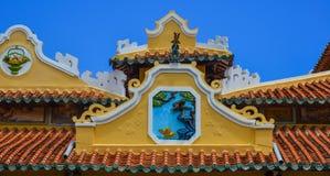 Chinese temple in Long Xuyen, Vietnam stock photos