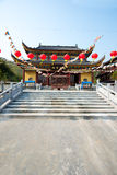 Chinese Temple in Moganshan. Mahavira Hall temple in Moganshan, China royalty free stock photography