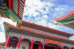 Chinese temple in the morning with cloudy skies. Chinese temple in the morning with cloudy skies in sunhine day Stock Images