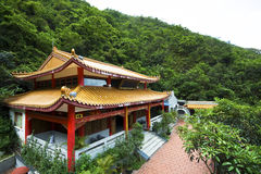 Chinese temple in a mountain Stock Image
