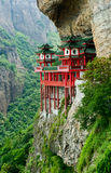 Chinese temple in mountainside Stock Image