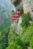 Chinese temple in mountainside Stock Images