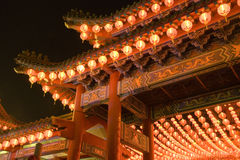 Chinese Temple at Night Royalty Free Stock Image