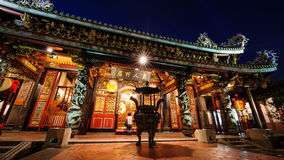 Chinese Temple at night Royalty Free Stock Photo