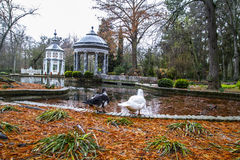 Chinese temple, Ornamental fountains of the Palace of Aranjuez,. Places of Palace of Aranjuez, Madrid, Spain Royalty Free Stock Photos