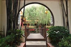 Chinese temple. Outside Royalty Free Stock Photos