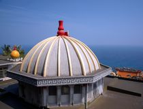 Free Chinese Temple Overlooking The Sea Royalty Free Stock Photo - 30040255