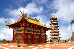 Chinese Temple and Pagoda Royalty Free Stock Photography