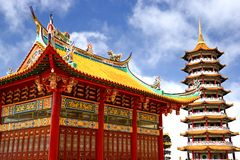 Chinese Temple and Pagoda Stock Photo