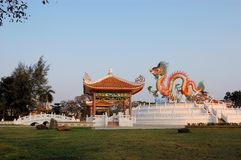 Chinese Temple pagoda in Nakhon Sawan, Thailand Stock Photos