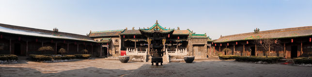Chinese Temple Panorama Stock Images