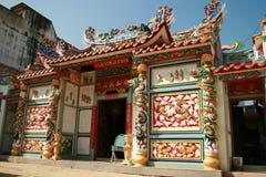 Chinese temple, Rangsit, Bangkok, Thailand. Chinese temple under a blue sky, Rangsit, Bangkok, Thailand Royalty Free Stock Photo