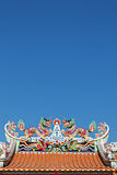 Chinese temple roof Stock Photography