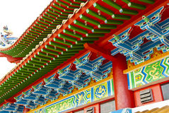 Chinese temple roof. Details of chinese temple roof Stock Photos