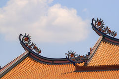 Chinese Temple Roof Royalty Free Stock Image