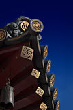 Chinese temple roof with bell Royalty Free Stock Photos