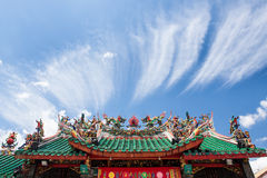 Chinese temple roof Stock Photos