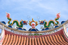 Chinese Temple Roof Decorations Royalty Free Stock Photo