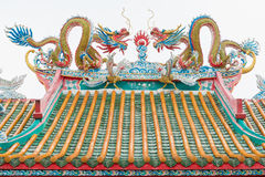 Chinese temple roof. Royalty Free Stock Photo