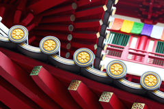 Chinese temple roof eaves Royalty Free Stock Images