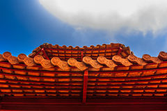 Chinese Temple Roof. Fort preachers of the Divine Holy god Royalty Free Stock Photo