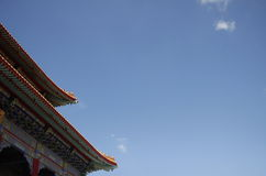 Chinese temple roof Royalty Free Stock Photos