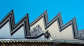 Chinese temple roof. Top, Penang, Malaysia stock photography