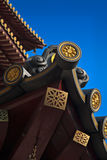 Chinese temple roof vertical Royalty Free Stock Images