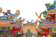 Chinese temple roof Royalty Free Stock Images