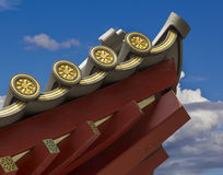 Chinese Temple Roofline detail. Closeup of Chinese Temple Roofline Royalty Free Stock Photography