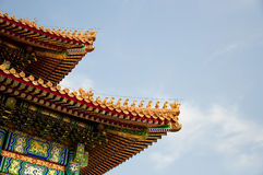 Chinese temple rooftop Stock Photography