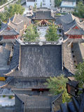 Chinese temple rooftop view Stock Photography